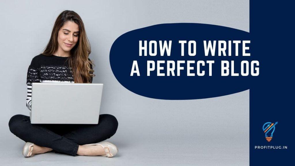 How To Write A Perfect Blog - Profit Plug